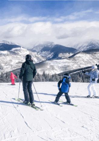 skiing-with-kids-skiing