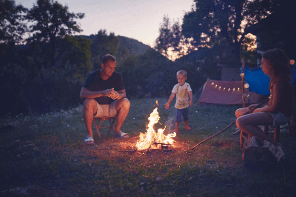 staycation-with-kids-camping