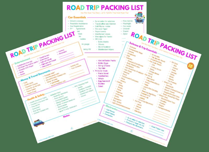road trip check list road trip packing list