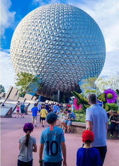 best disney world rides family entering epcot and giant ball