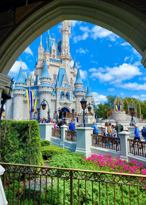 best rides at disney world view of Cinderella's castle