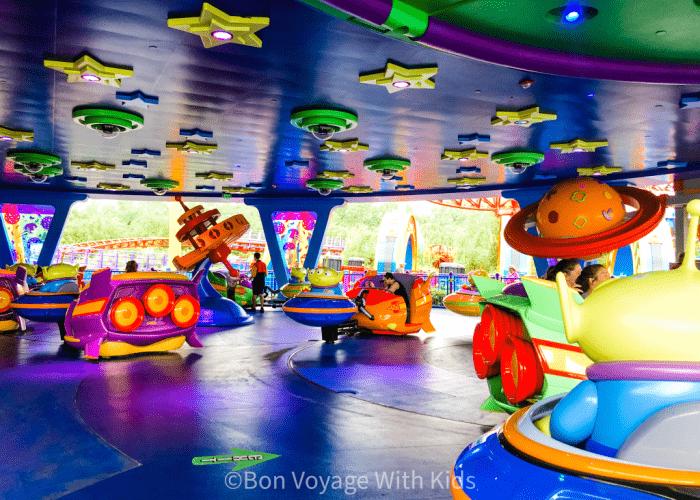 best disney world ride for toddlers alien saucer ride