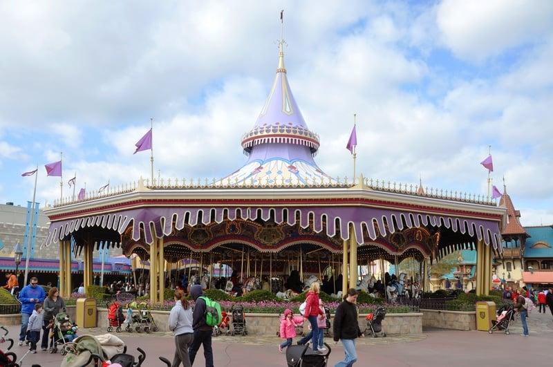 prince charming carousel at magic kingdom disney world