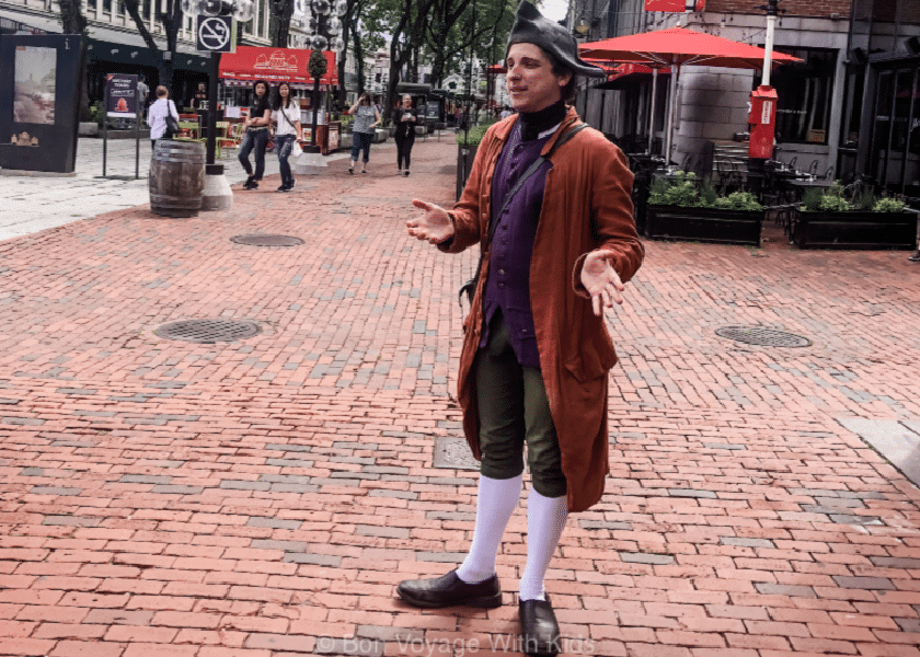 Freedom Trail Guide in Costume