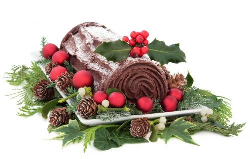 French Yule log christmas desserts around the world
