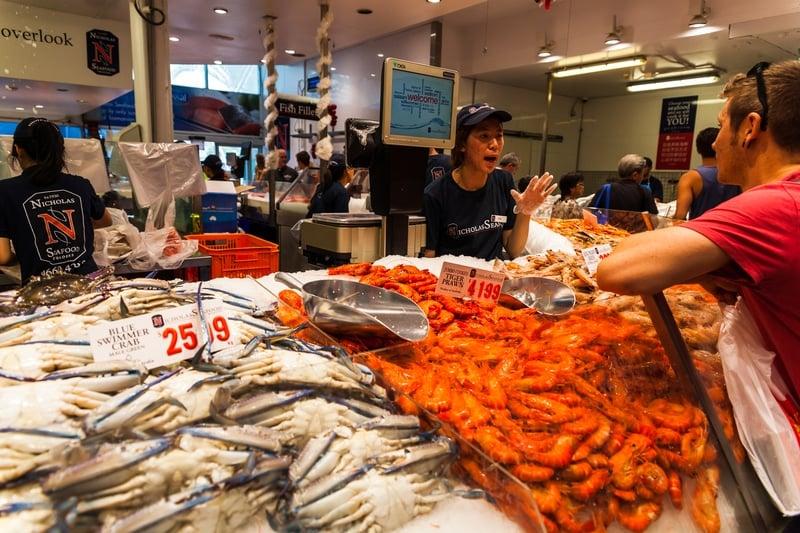 sydney fish market at Christmas