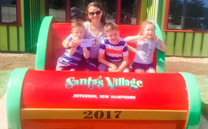 Santa's Village Sleigh with family