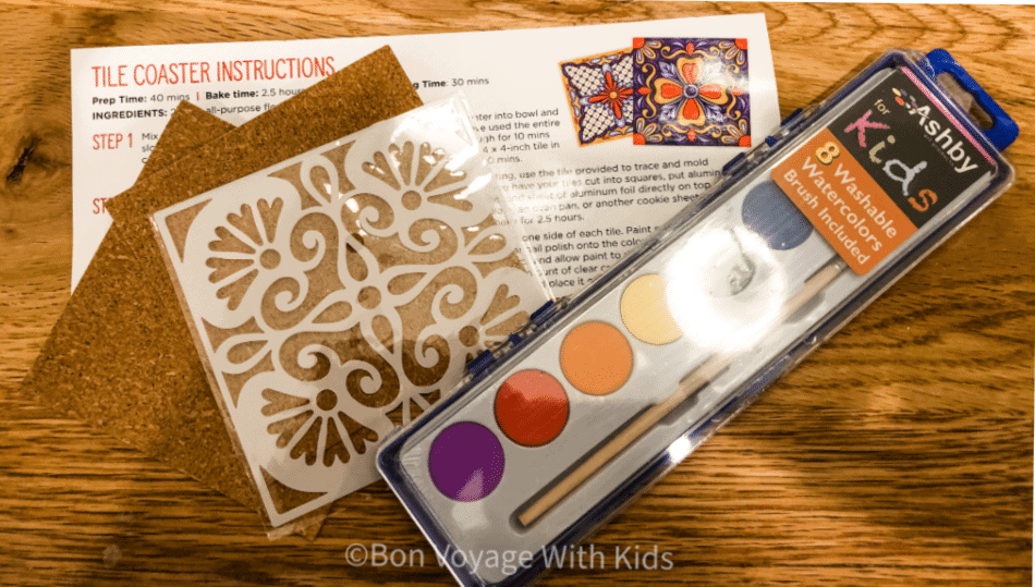 travel subscription box tile craft