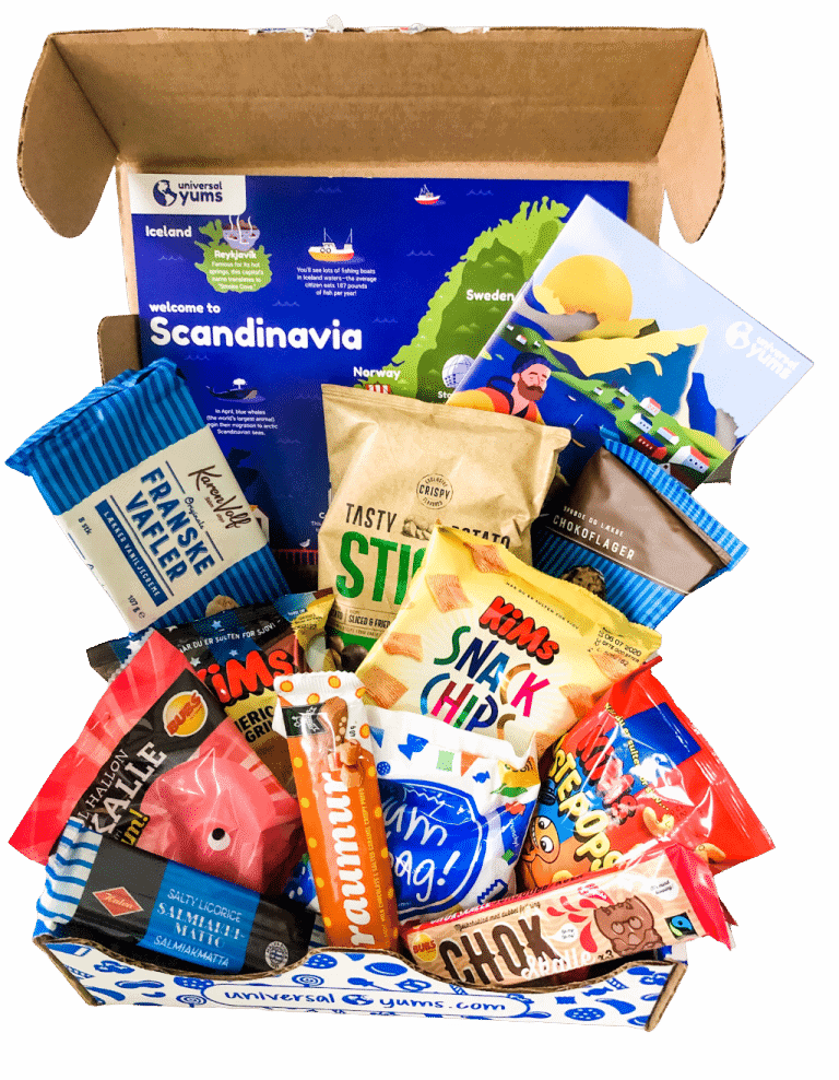 universal yums review box of treats from Scandanavia