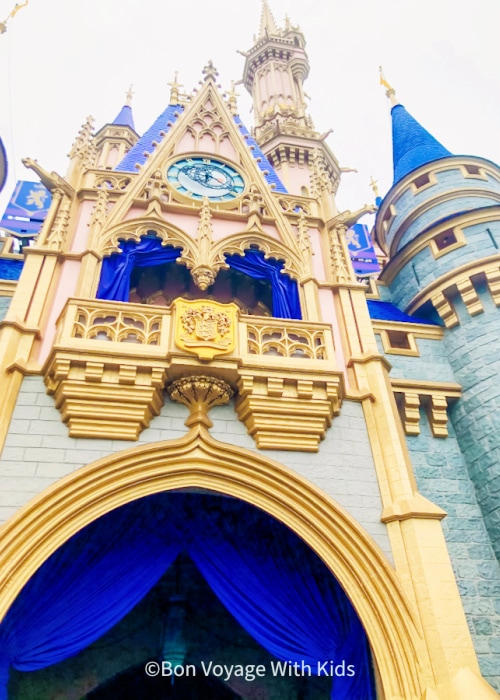 Disney 2021 Magic Kingdom Castle Up Cose