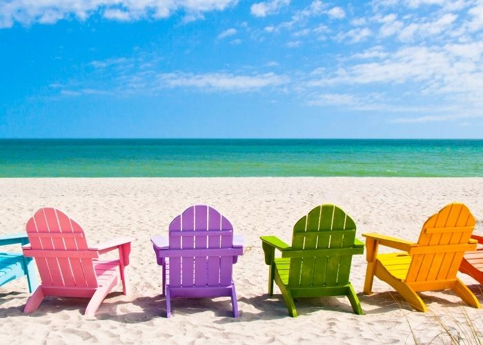 beach chairs multiple colors