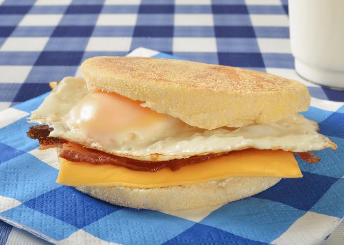 road trip food breakfast sandwich