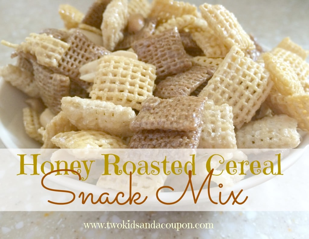snack mix recipes honey roasted cereal snack mix