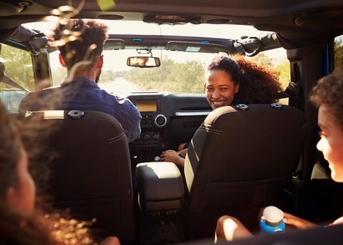 tips for road trips family inside car