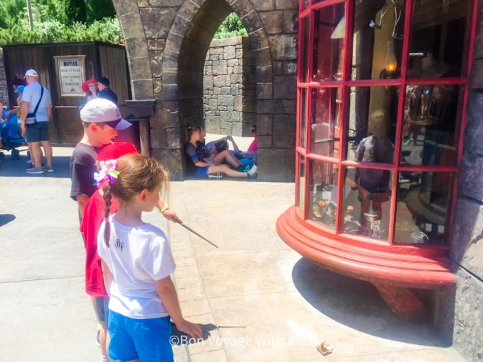 wizarding world of harry potter orlando spell location in front of window
