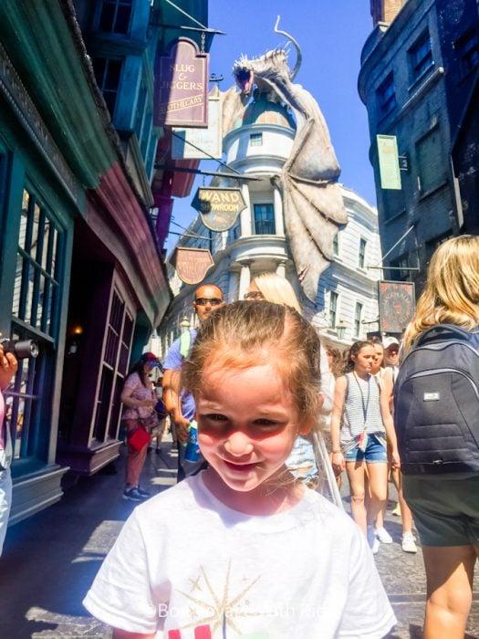 wizarding world of harry potter orlando girl in diagon alley near gringotts