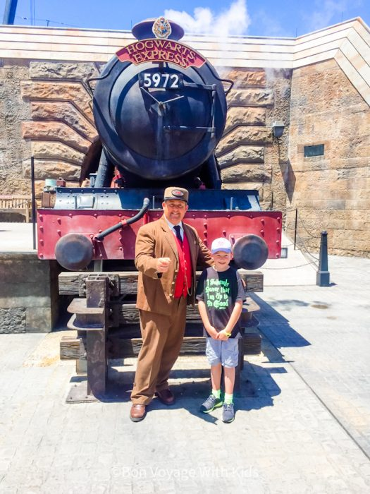 wizarding world of harry potter orlando hogsmeade in front of hogwarts express