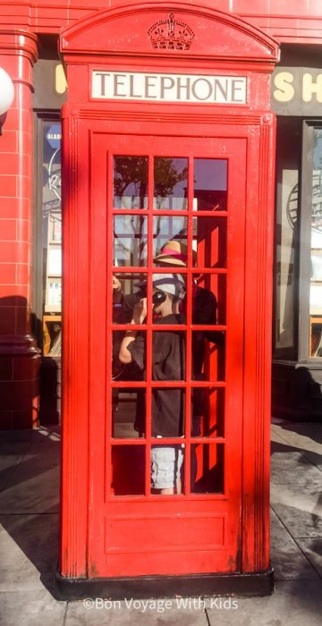 wizarding world of harry potter orlando phone booth