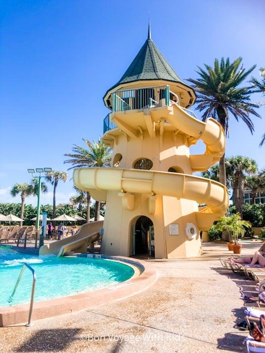 Sand Castle Water slide at Disney's Vero Beach Resort pool