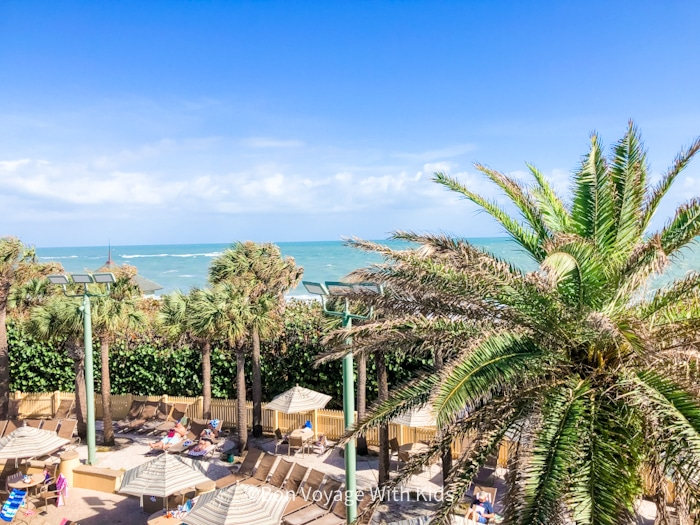 View of ocean at Disney Vero Beach Resort Hotel