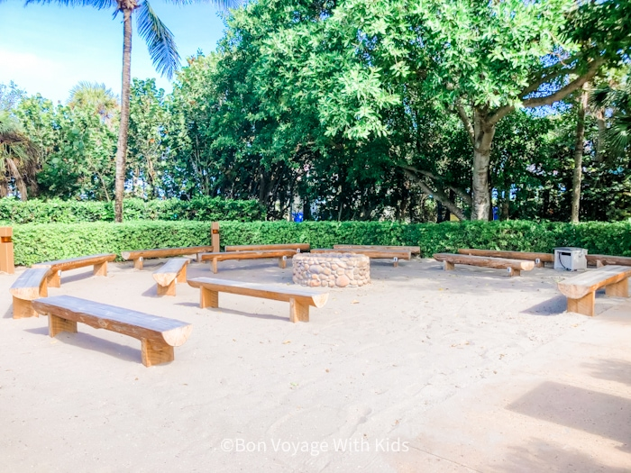 Campfire area at Disney's Vero Beach Resort