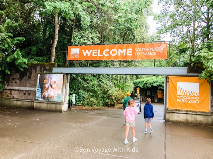 Entrance To The Woodland Park Zoo
