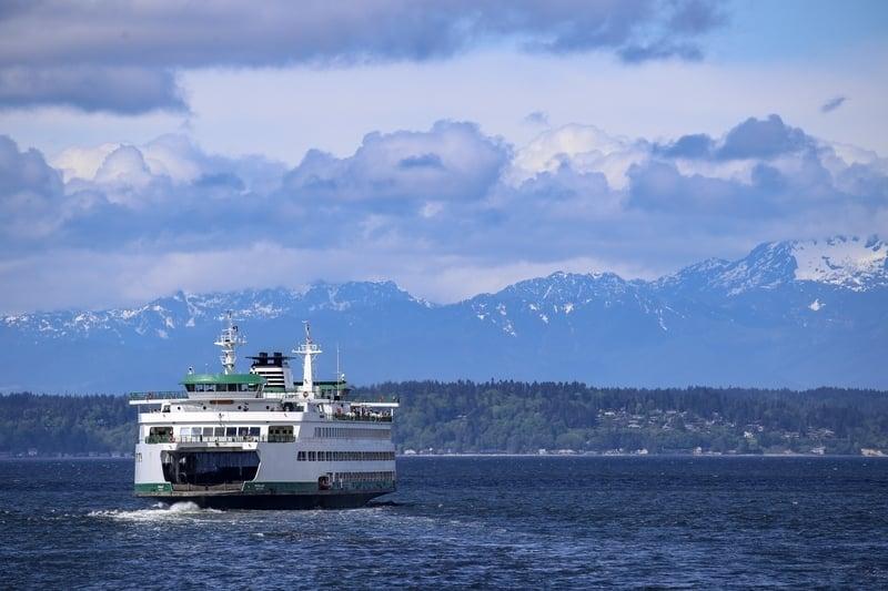 Ferry going to bainbridge island from Seattle