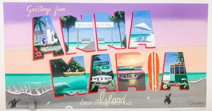 Anna Maria Island Post Card On Wall