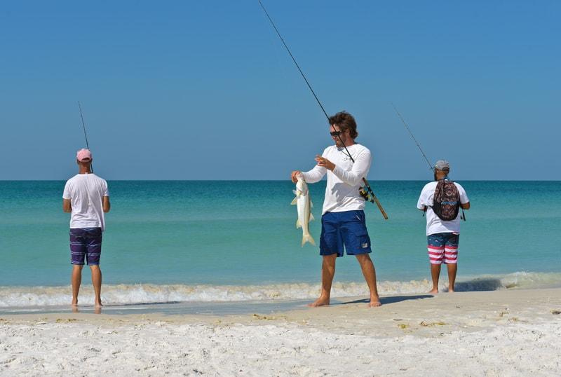 young men fishing