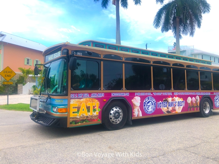 free trolly on things to do on Anna Maria island