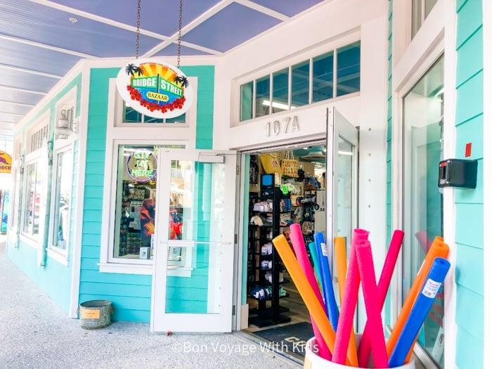 souvenir shop on Bridge Street Homes Beach Anna Maria Island