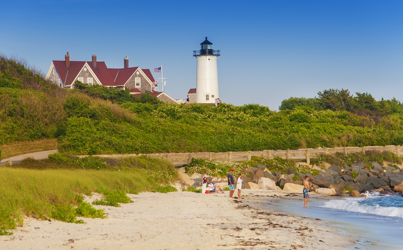 Lighthouse at Woods Hole on Cape Cod