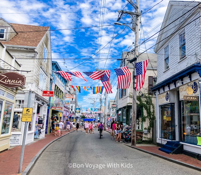 things to do with kids in cape cod provincetown with flags