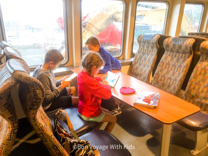 Riding the ferry Martha's Vineyard