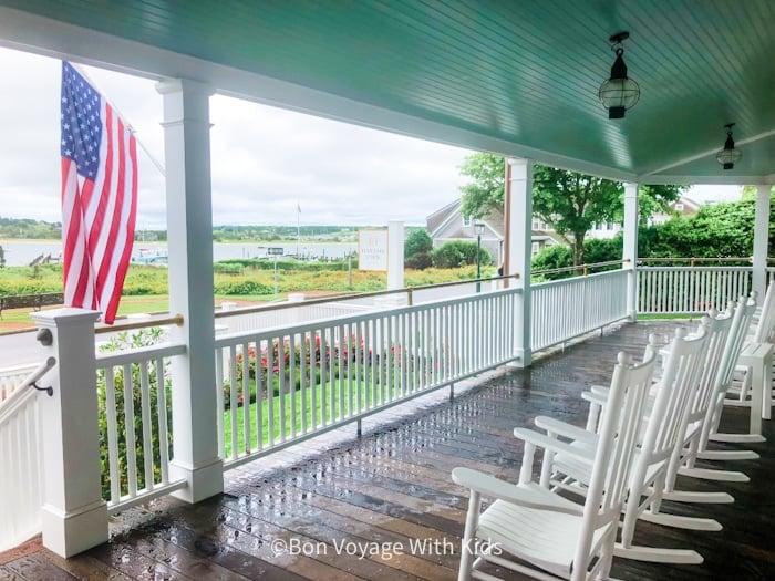 Harborview Inn Martha's Vineyard porch with rocking chairs