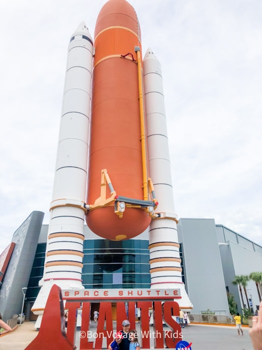 visit kennedy space center shuttle atlantis display outside