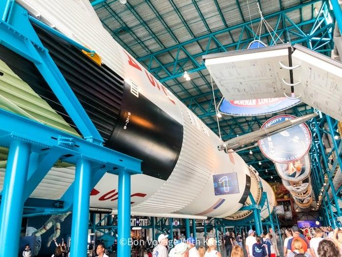 visit kennedy space center saturn v display