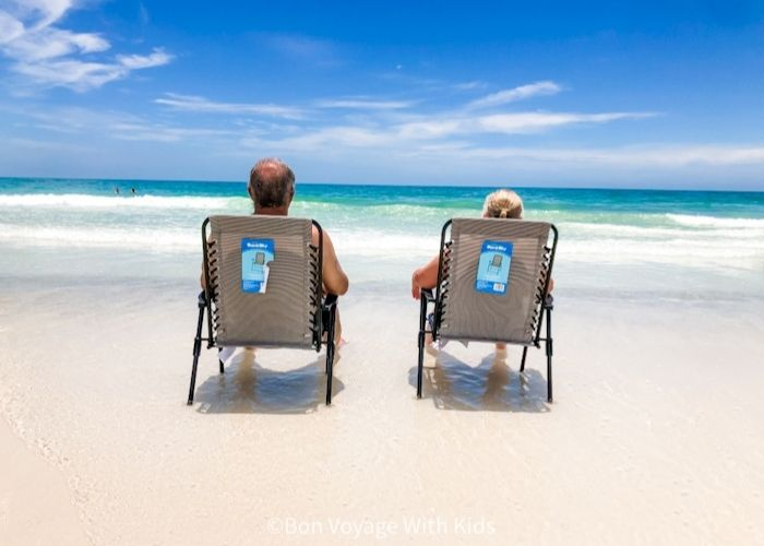 couple looking at the beach on anna maria island