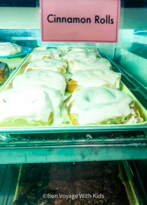giant cinnamon rolls at ginny and jane E's at the IPA