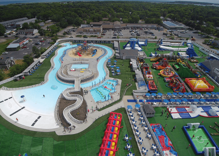 aerial view of Cape Cod Inflatable Park