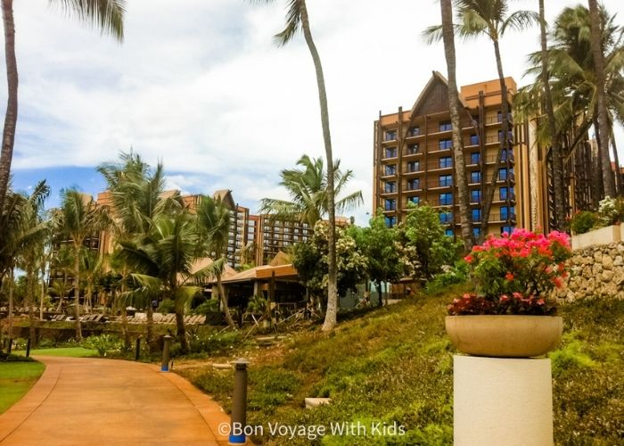 Disney's Aulani from the path outfront.