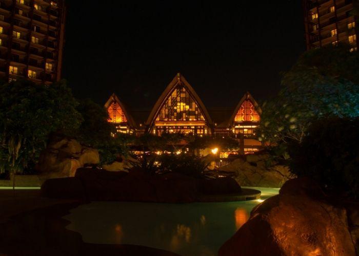 Aulani at night at Disney's Aulani