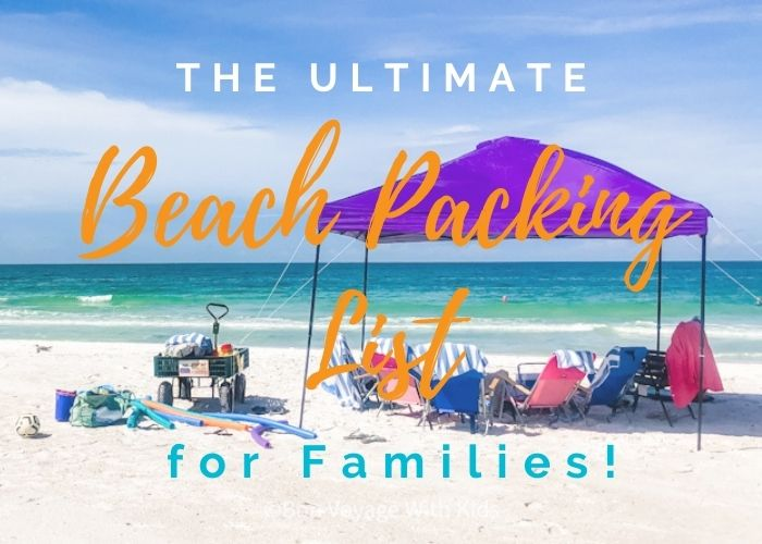 beach packing list family cover image