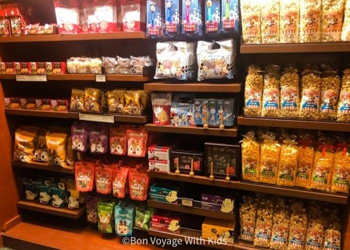 Disney snacks in Disney store at Walt Disney World