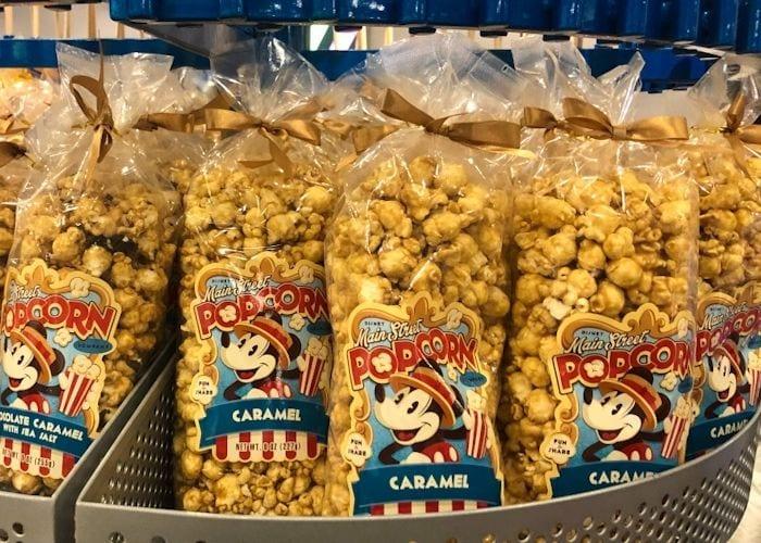 caramel popcorn packs at Disney World
