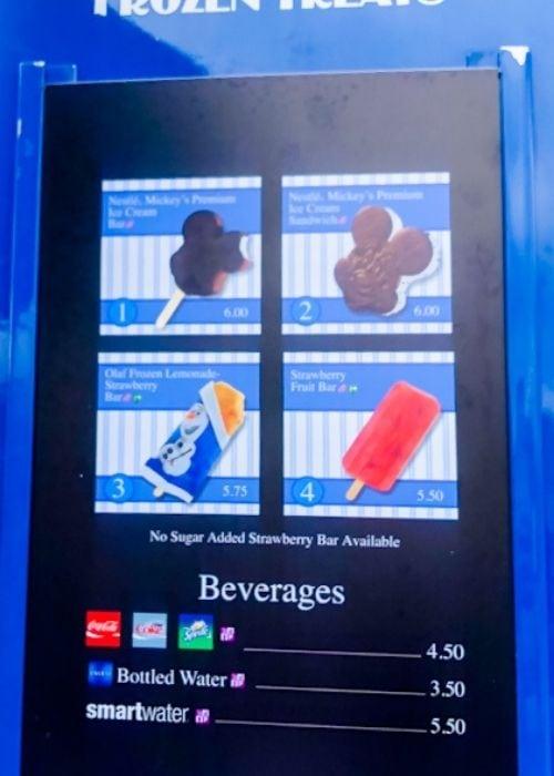 ice cream bar at Walt Disney World