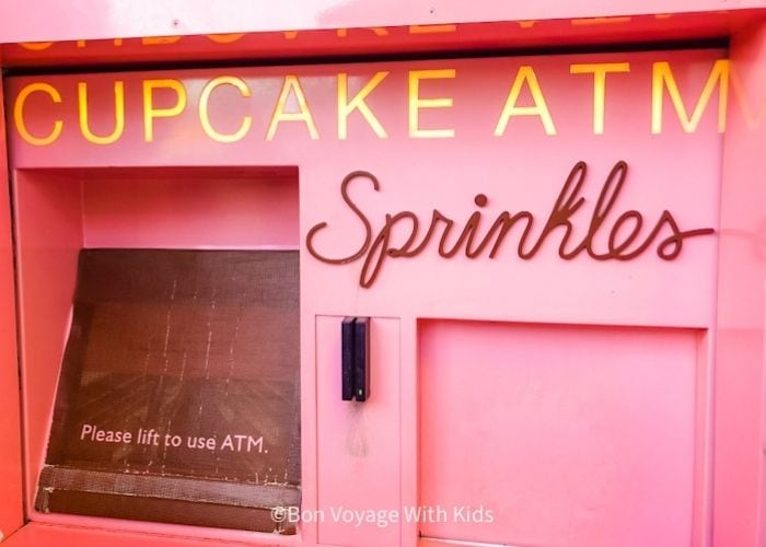 cupcake atm at Disney Springs is one of the best snacks at Disney World
